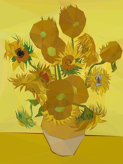 Van Gogh's Sunflowers, reimagined