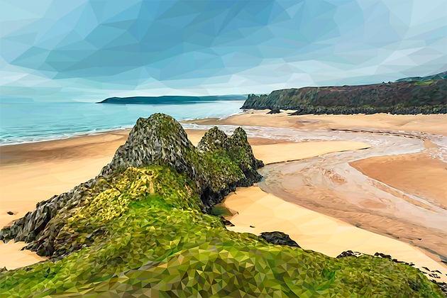 New Landscapes   Andy Walker Digital Art - Home