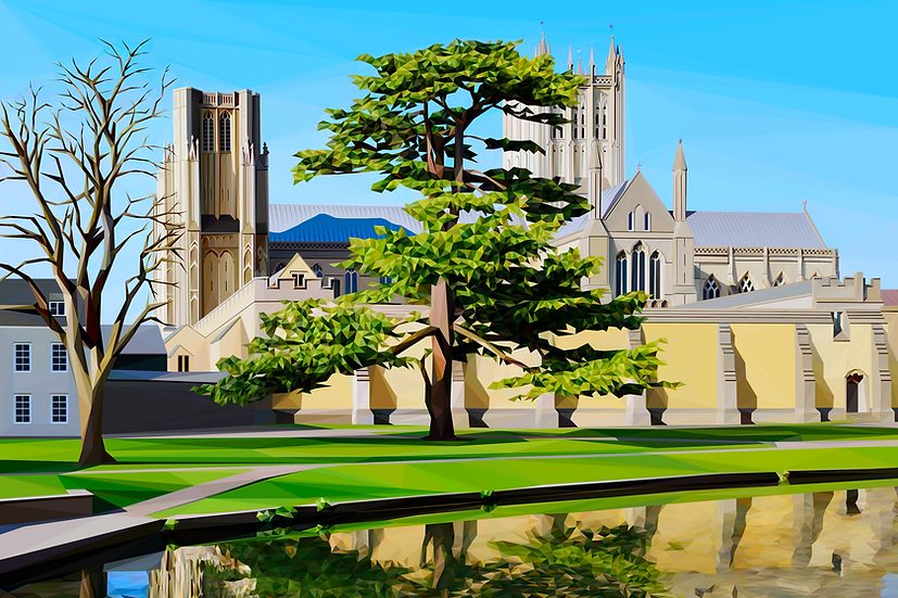 Wells Cathedral, Somerset - Andy Waker Digital Artist