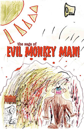 The Saga of Evil Monkey Man #1 Variant Cover