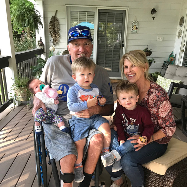 DK and Sandy with the grandkids