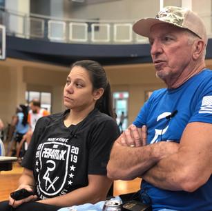 DK and Darlene Hunter commentating on the games together