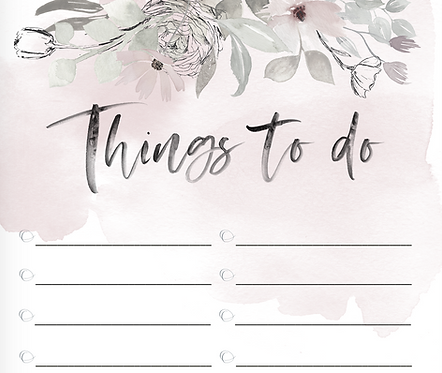 "Schreibblock ""things to do"""