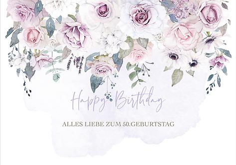 "Geburtstag ""lila Blumen"""