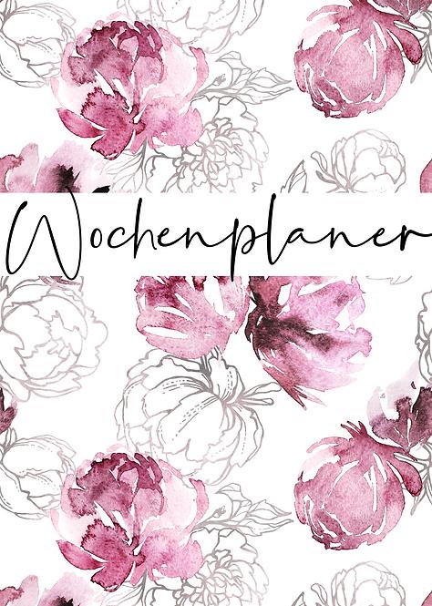 """Wochenplaner """"flower"""""""