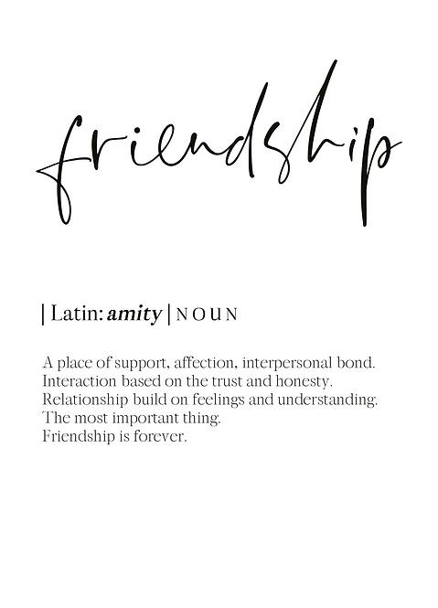 "Postkarten ""friendship"""