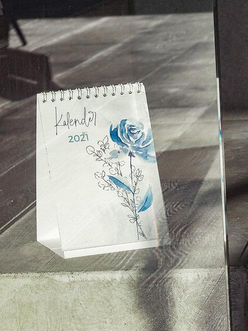 """Tischkalender """"blau"""" 2021"""
