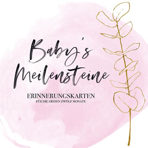 "Baby's Meilensteine ""greenery"" rosa"