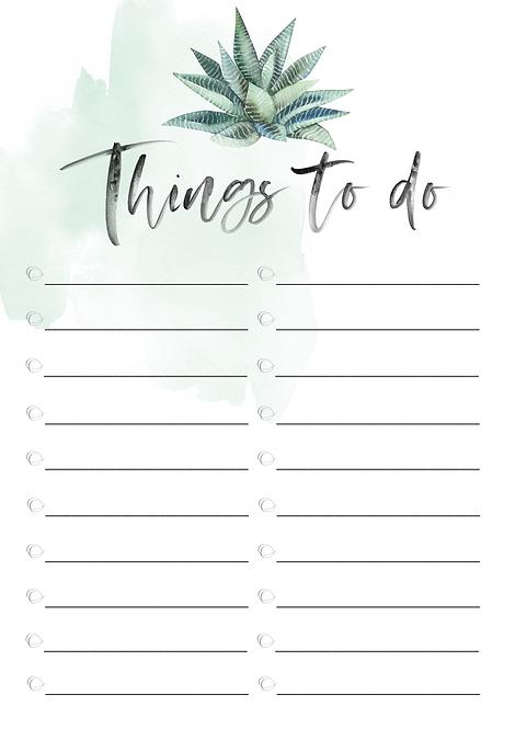 """""""things to do"""" sukkulente grün"""