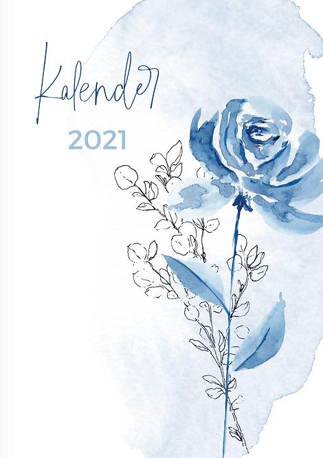 "Wandkalender ""blau"" 2021"