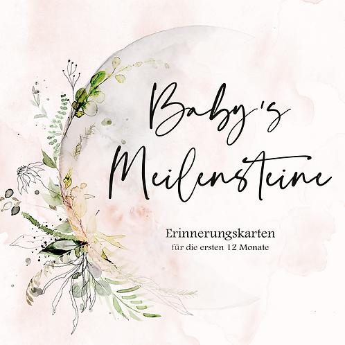 "Baby's Meilensteine ""moon"""