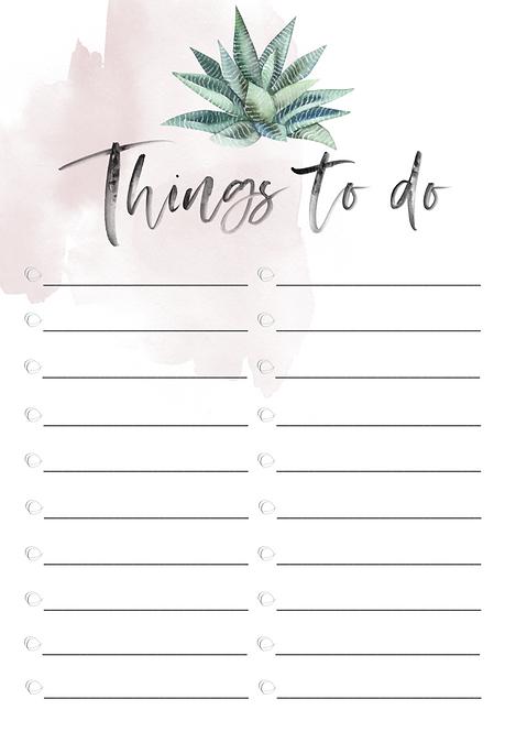 """things to do"" sukkulente rosa"
