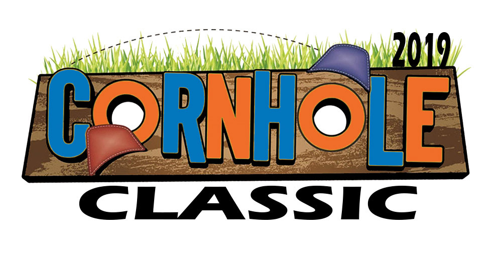 2019 Cornhole Classic logo in blue and orange