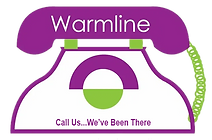 warmline telephone with tagline call us we've been there