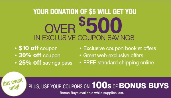 Over $500 in exclusive coupon savings!