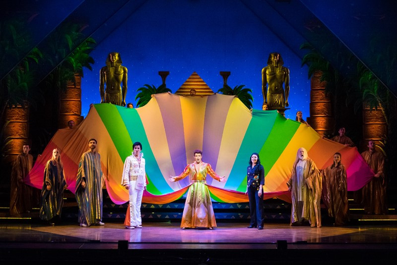 actors on stage performing scene from Joseph and amazing technicolor dreamcoat