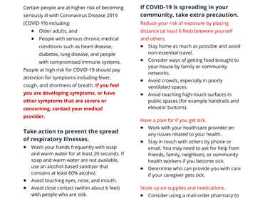 DNMM Response to COVID-19 Outbreak