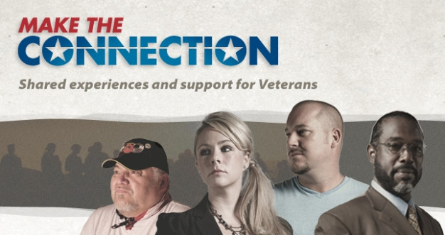 Make the Connection shared experiences and support for veterans shows four veterans of various ethnicity