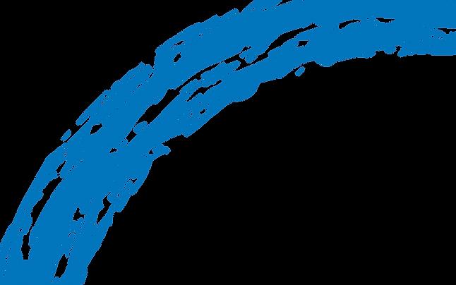 Blue paint splatter from DNMM logo