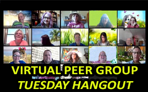Link to Tuesday Peer Group Virtual Hangout