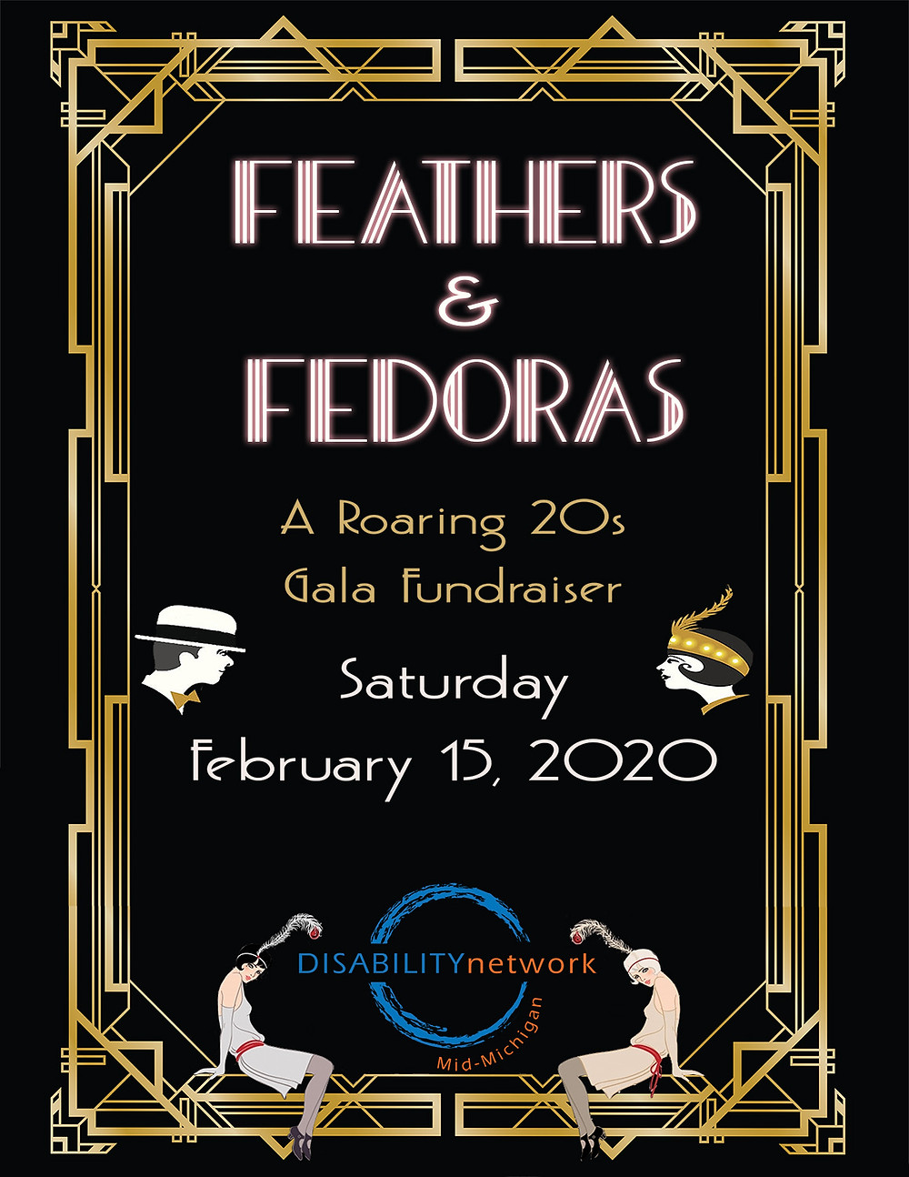 Feathers and Fedoras Poster