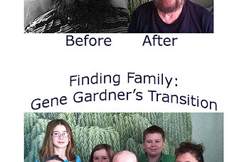 Before and After Pictures of Gene Gardner, who found a new family after transitioning out of nursing home.