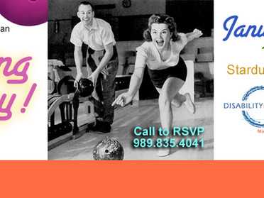 Bowling Party! - Peer Activities Group - January 10th, 1pm-4pm