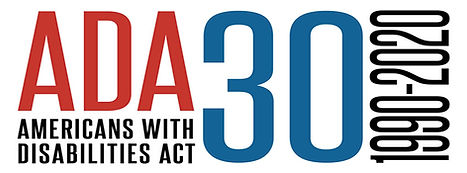 ADA in red 30 in blue and 1990 to 2020 in black