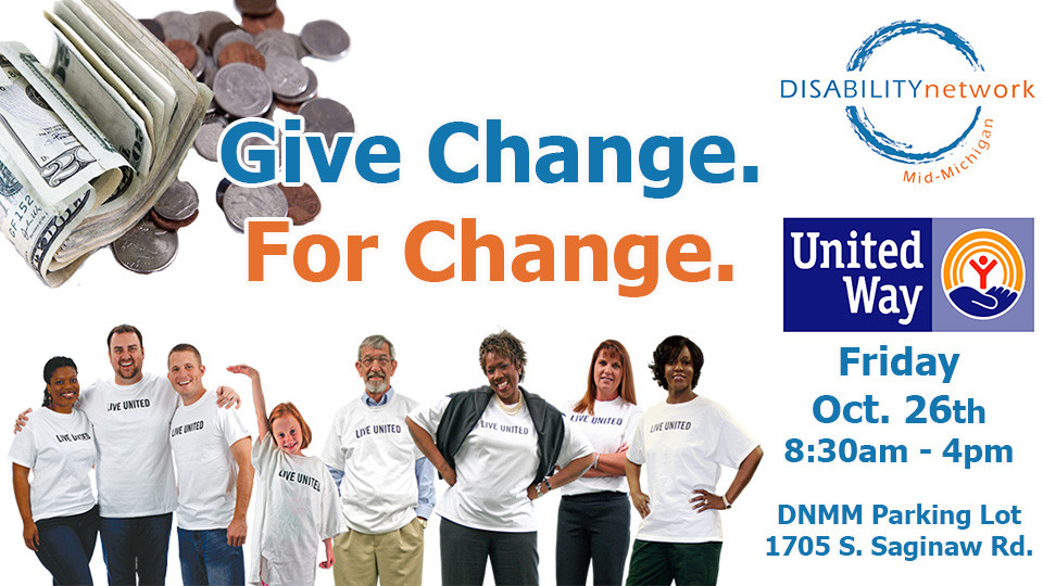 Give Change For Change Banner, Friday October 26th