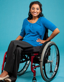Elizabeth is an educator who has lupus and uses a wheelchair. SHE can do it!