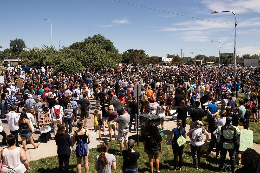 over 1000 people gather at midland's black lives matter rally