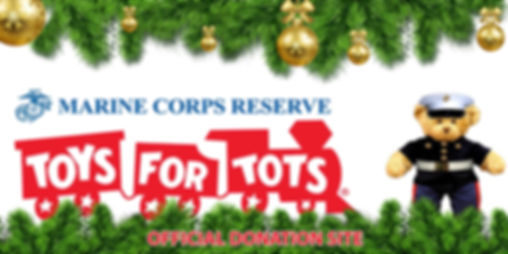 christmas garland on top and bottom of marine corps reserve toys for tos loo featuring marine teddy bear - official donation site