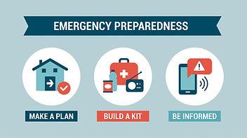 Emergency Preparedness - make a plan, build a kit - be informed