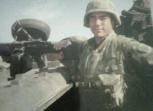 Zak Jaime serving in Afghanistan