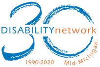 Disability network mid-michigan logo 30th anniversary 1990 to 2020