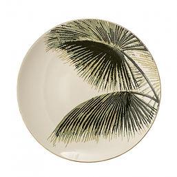 palm-leaf-print-ceramic-dinner-plate-gre