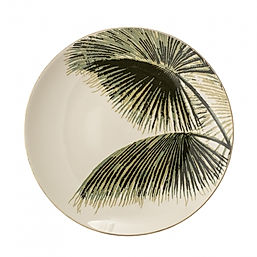palm-leaf-print-ceramic-dinner-plate-gre