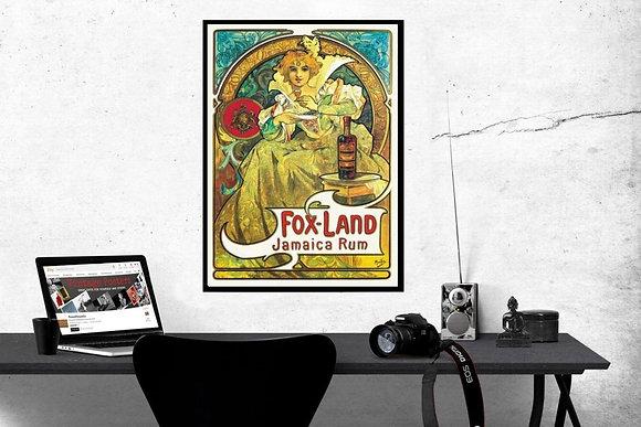 Mucha, Alphonse - Fox-Land Jamaica Rum, 1897 by Alphonse Mucha Poster