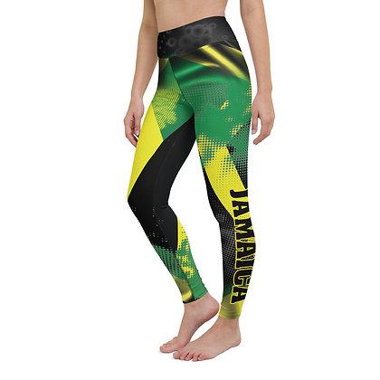 Jamaica flag Yoga Leggings  Queen of Caribbean leggings  Jamaica National flag