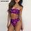 Thumbnail: Jamaican Hemp Leaf Print  Women Summer Beachwear Strapless Swimsuits for Ladies