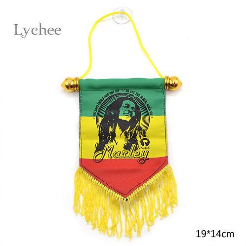 Lychee Life 1 Piece Jamaica Bob Marley Freedom Hanging Flag Banner