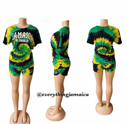 Jamaican Tyedye Ladies shorts set