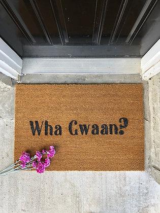 Wha Gwaan Door Mat | Custom Door Mat
