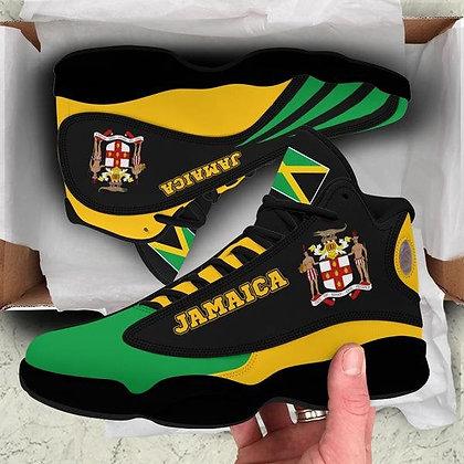 Jamaica High Top Sneakers Shoes, Jamaica  Special Flag Shoes, Air Jordan 13 Sho