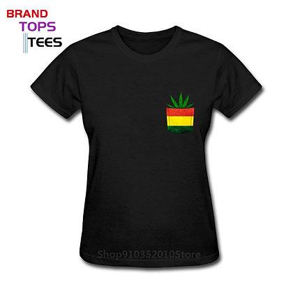 Africa Jamaica Style Harajuku T Shirt Vintage Rastafari Pocket Reggae TShirts