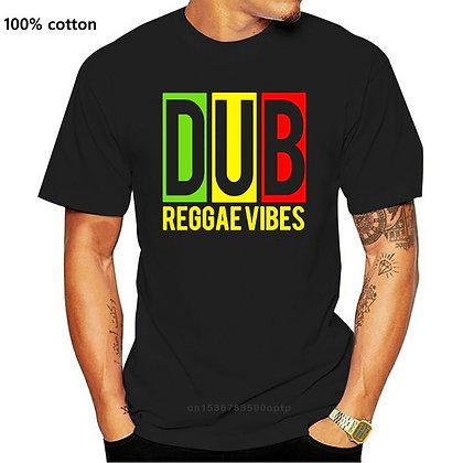 T-Shirt Dub Reggae Quality Cotton Reggae Music  Vibes Jamaica  Outdoor Wear Tee