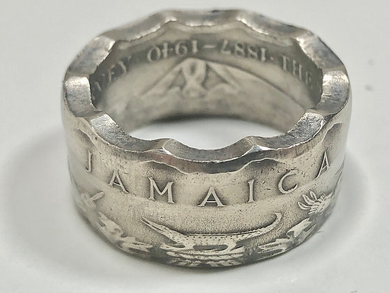 Jamaica Ring 50 Cent Jamaican Coin Ring Hand Made in Canada
