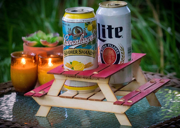 Beer Holder or Condiment Rack, A Mini Picnic Table 3D Kit. Useful Centerpiece A