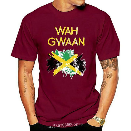 Men Funny T Shirt Fashion Tshirt Wah Gwaan Jamaica Women T-Shirt