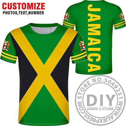 JAMAICA T-Shirt Nation Flag Jamaican Country College Print Photo Logo 0 Clothing